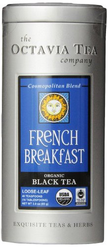 Caramel French Tea - Octavia Tea French Breakfast (Organic Black Tea) Loose Tea, 3-Ounce Tins (Pack of 2)