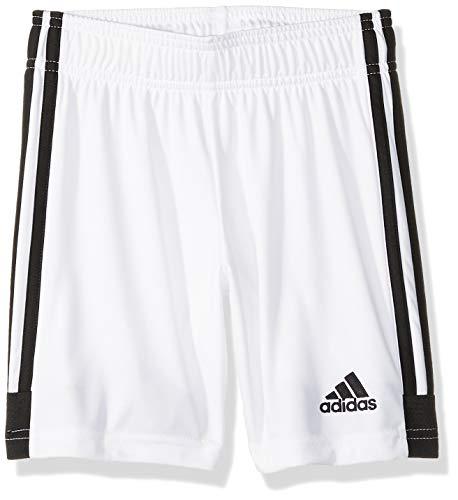 adidas Unisex Soccer Tastigo 19 Shorts, White/Black, Youth Large