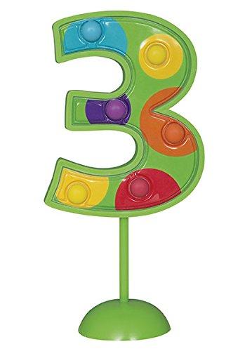 Unique Party- Decoración de tarta intermitente número 1 (37031)