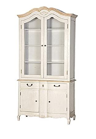 French Country Display Cabinet....Stone Grey U0026 Natural Oak French Style