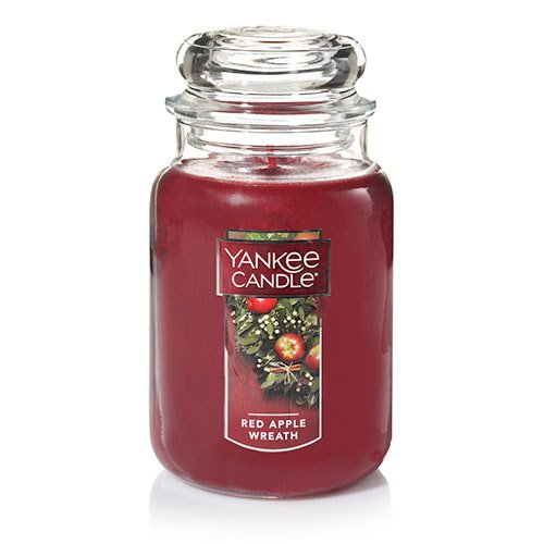 Yankee Candle Large Jar Candle, Red Apple Wreath (Ounce Holiday 22 Jar)