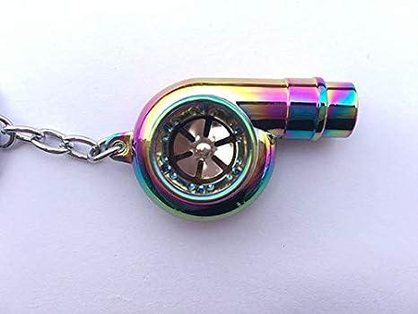Amazon.com: Llavero de metal para coche, con diseño de turbo ...