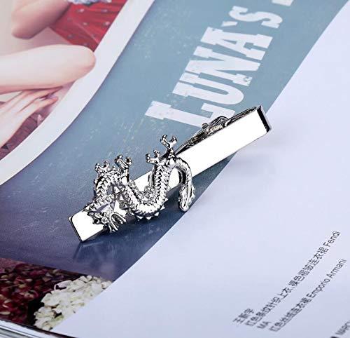 Lannmart New Men's Fashion Chinese Style Dragon Flat Fun tie Clip ()