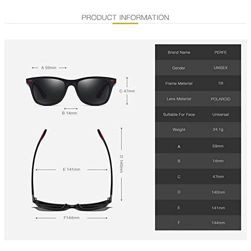 Protectoras de Negra Sol Gafas Yxsd C3 Unisex de Lente Sombras de la Hombres SunglassesMAN Color Clásicas del C1 los Señoras Estilo UV400 xZaw8txq