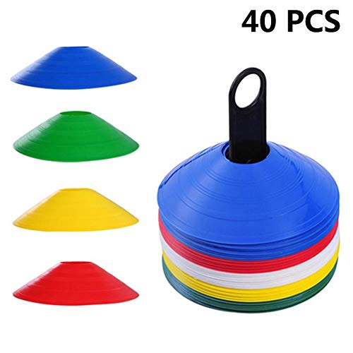 sweet dream Disc Cones, 40-Pack Sport Agility Soccer Training Cone, Agility Soccer Cones, Sports Equipment, Field Cone Markers for Agility Training, Soccer, Football, Kids, Field Marker