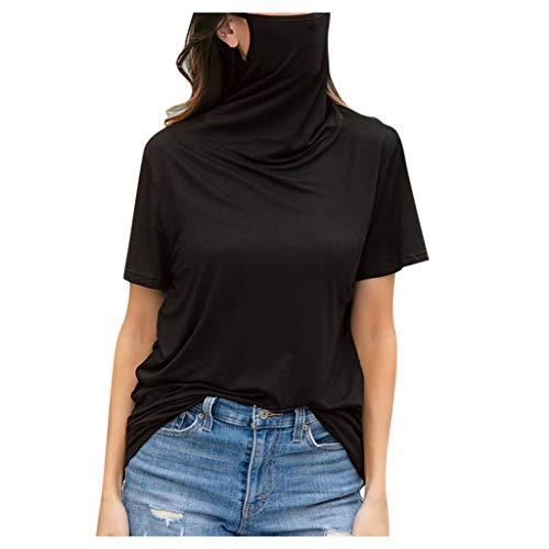 Allegorly Damen Freizeit T-Shirt,T-Shirt Mit Rundhalsausschnitt Kurzärmliges T-Shirt mit Lässige Bluse T-Shirt Tops Lockeres lässiges Top