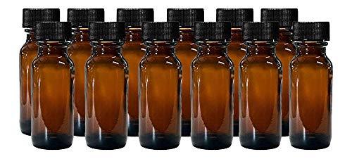 Boston Round Bottles, 1/2 Oz Pack of 12 ()