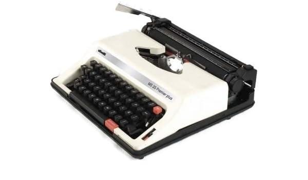 Olivetti ms25sp modelo MS 25 Premier Plus portátil Inglés/Español Manual Máquina de escribir (12667 X), 44 teclas & 88 símbolos, variable línea espacio: ...