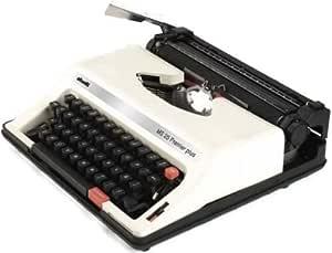 Olivetti ms25sp Modelo MS 25Premier Plus Portable Inglés/Español Manual Máquina de escribir (12667X), & Símbolos de 88, Variable Line Espacio de 44teclas