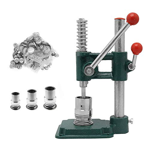 T iNlovEaRTs Handmade Fabric Covered Button Maker Button Machine DIY Tool Set, Badge Making Machine with 3 Molds (diameters 18, 25, 30mm) and 300 pcs Buttons (corresponding Mold Size)