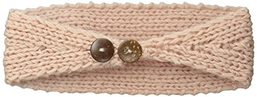 David & Young Women's Solid Headwrap with Crochet Flower, Blush, One Size