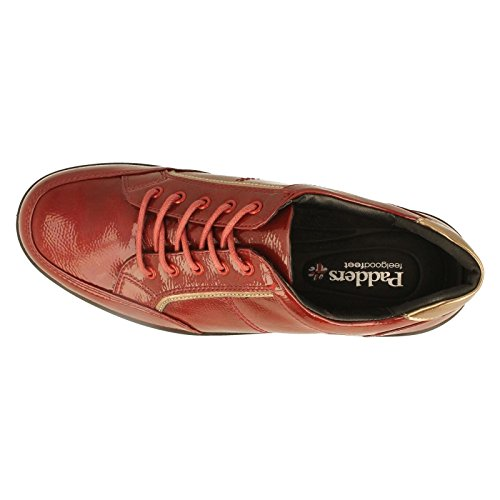 pour Padders Rouge femme de Chaussures à lacets ville rouge xaBq7