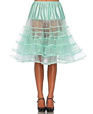 Leg Avenue 83043 Women's Mint Knee Length Petticoat