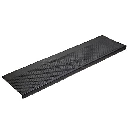 48u0026quot;W Outdoor Recycled Rubber Stair Tread Black