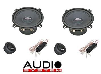 8D Hertz Auto Lautsprecher Kompo-System 320 Watt Audi A4 B5 // hinten : T/üren bis 10//00 Einbauort vorne :