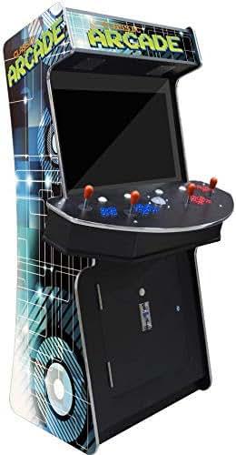 Creative Arcades Slim Full-Size Commercial Grade Cabinet Arcade Machine   Trackball   3500 Classic Games   4 Sanwa Joysticks   2 Stools   32