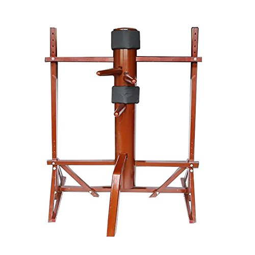 WUDETON Traditional Kung Fu Wing Chun Wooden Dummy with Framework (Purplish Red)