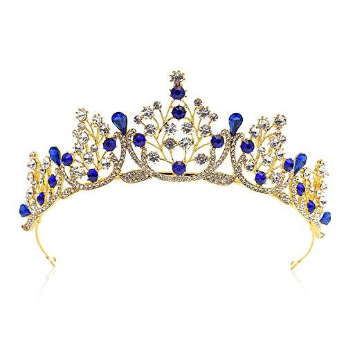 High-End Golden Rhinestone Crystal Bride Diadem Headdress Hair Jewelry Bridal Crowns And Tiaras Wedding Hair Accessories Bh
