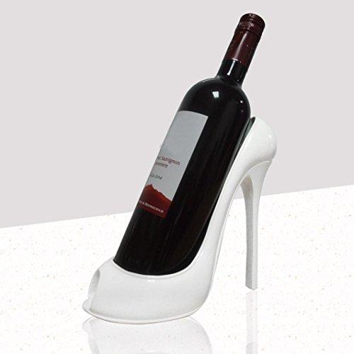 Ecosin Fashionable And Elegant Wine Rack High Heel Shoe Bottle Holder Storage Wedding Party Decor Ornament Gift (White) - 500 Wine Cabinet