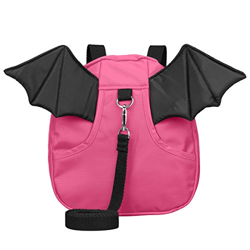 3D Toddler Baby Kid Walking Safety Harness Leash Backpack Travel Strap Anti Lost Bag (Little Devil Rosy)