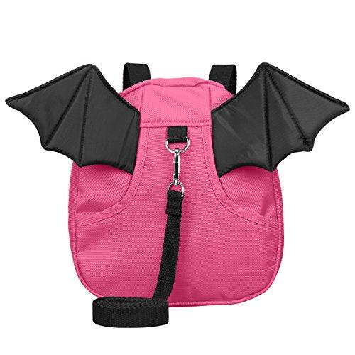 3D Toddler Baby Kid Walking Safety Harness Leash Backpack Travel Strap Anti Lost Bag (Little Devil Rosy)