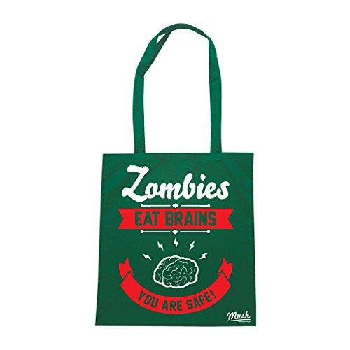 Borsa Zombie Cervello Salvo Walking Dead - Verde Bottiglia - Film by Mush Dress Your Style