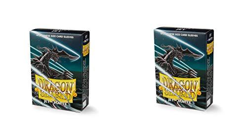 2 Packs Dragon Shield Matte Mini Japanese Jet 60 ct Card Sleeves Value - Jet Shield
