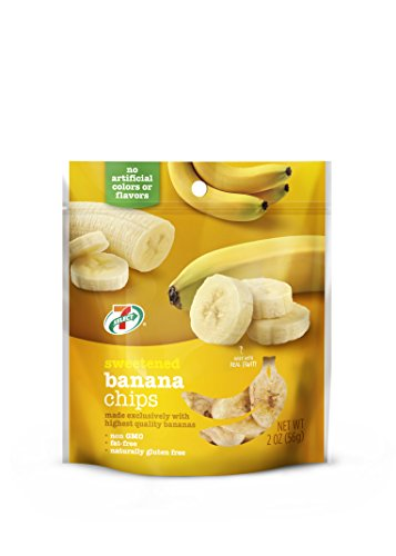 (7-Select Sweetened Dried Banana Chips 2 oz. per Bag, 6 Resealable Bags)