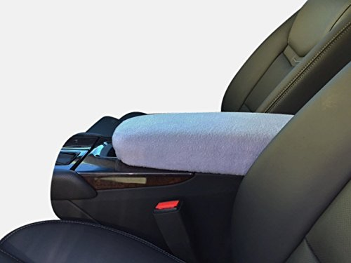 Auto Console Covers- Compatible with The Lexus LS 460 2007-2013 Center Console Armrest Cover Fleece- Light Gray