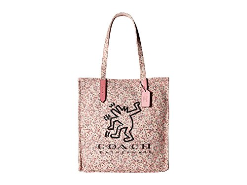 COACH Women's Coach X Keith Haring Tote Bp/Bright Pink One Size