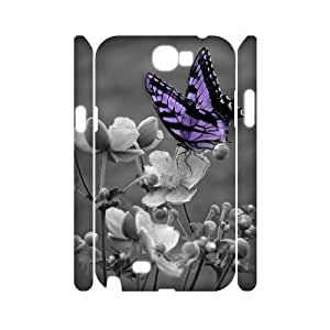 Butterfly 3D-Printed ZLB580677 DIY 3D Phone Case for Samsung Galaxy Note 2 N7100 by lolosakes
