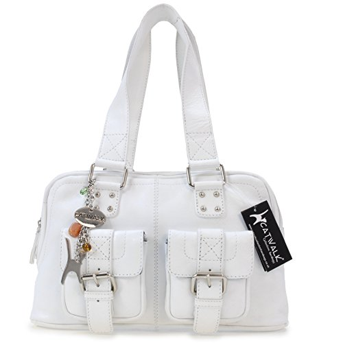 Collection cuir Blanc Caroline Catwalk en à Sac main signé Aw07OO