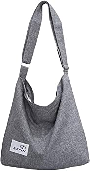 ZZPLN Women's Canvas Crossbody Bag Casual Hobo Bag Shoulder Bag Shopping