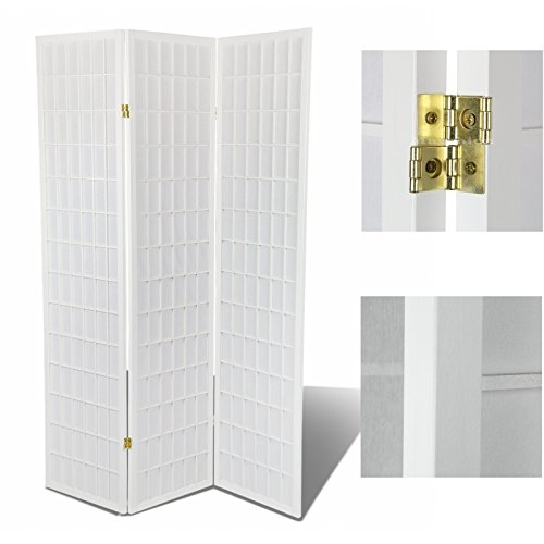 Magshion Oriental Room Divider Hardood Shoji Screen (White