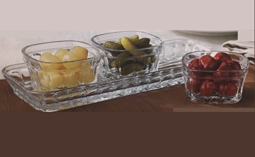 Crystal Appetizer Condiment Serving 4 Piece product image