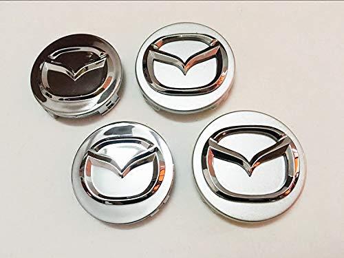Bearfire W4 Pcs 56mm Wheel Center Hub Caps Cover Apply to for Mazda 2 3 6 Atenza Axela CX-5 CX-7 CX-8 (fit Mazda 56mm)