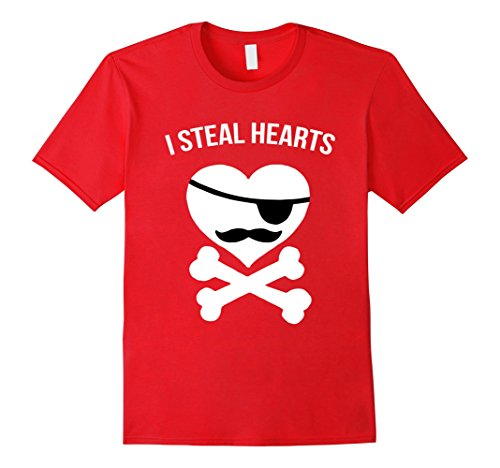 Men's Kids Valentines Day T Shirt A Great Gift for Men and Boys Medium Red