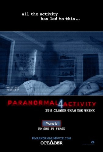 Paranormal Activity 4 Movie Mini poster 11inx17in Master Print by Unknown