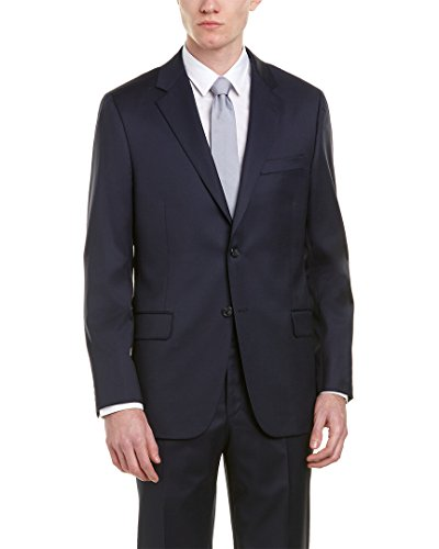Hickey Freeman Mens Milburn Ii 2Pc Wool Suit with Flat Pant, 42R, - Freeman Mens Hickey Suits
