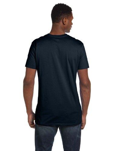 Hanes Mens Nano-T Cotton T-Shirt Vintage Black