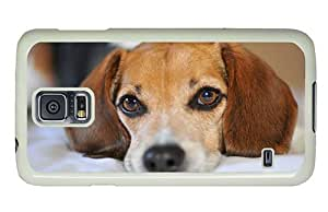 Hipster Samsung Galaxy S5 Cases design dog pup eyes PC White for Samsung S5