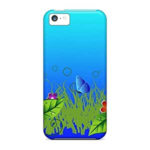 Tpu Fashionable Design Spring Blues Rugged Case Cover For Iphone 5c New