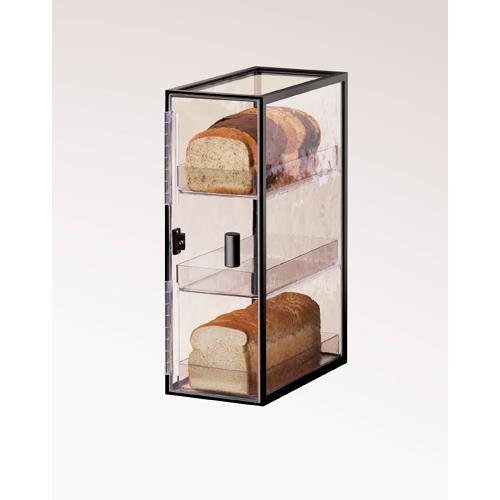 Calmil 1720-3 Iron Bread Case, 12.25'' Length x 7'' Width x 19.5'' Height, Black by Cal Mil