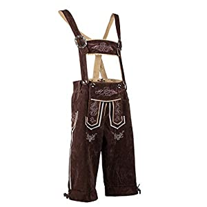 Oktoberfest Bavarian Lederhosen Mens German Traditional Outfit