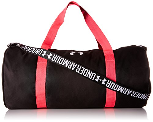 Under Armour Girls UA Favorite Duffel - Black, Harmony Red, White