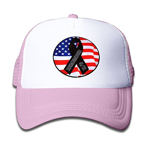 Shadidi Kid's Remember 911 Cool Adjustable Casual Mesh Baseball Cap Trucker Hat