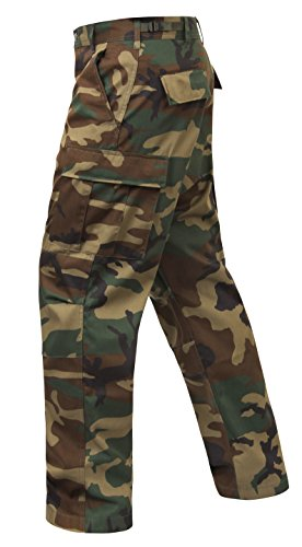 Rothco Relaxed Fit Zipper Fly BDU Pant, Camo, Medium (Woodland Camo Bdu Shirt)