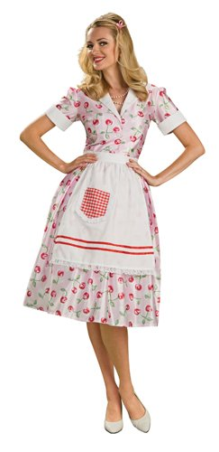 Decade Themed Party Costumes (Rubie's Costume 50's Housewife Costume, Standard)