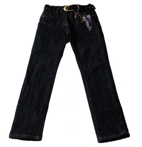 Thermojeans Thermohose Jeans Mädchen Babyjeans warm gefütterte Winterhose mit Gürtel