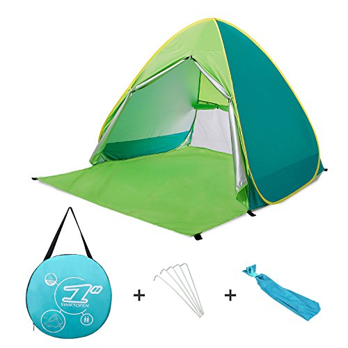 Ylovetoys Outdoor Automatic Pop Up Beach Tent, Portable Cabin Camping Tent Sun Shelter for 1-2 Person (Green)